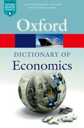 A Dictionary of Economics: Edition 5