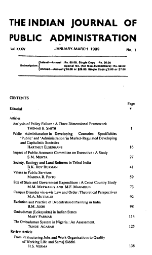 The Indian Journal of Public Administration PDF
