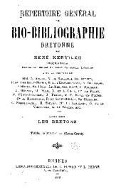 Répertoire général de bio-bibliographie bretonne: Volume10