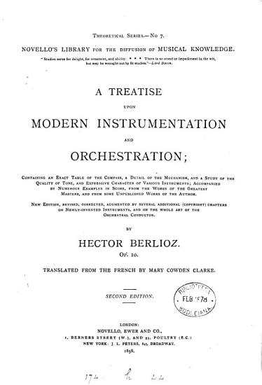 A treatise upon modern instrumentation and orchestration PDF
