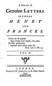 A Series of Genuine Letters Between Henry and Frances