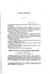 Réponse a une note de M. Pasteur, insérée aux comtes rendus: Séance du 18 décembre 1865