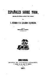 Españoles sobre todo: drama en tres actos y en verso : segunda parte