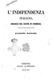 L' indipendenza italiana discorso del signor di Cormenin