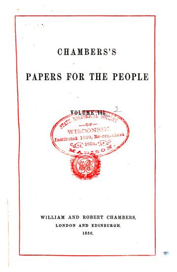 Chamber s Papers for the People PDF