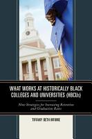 What Works at Historically Black Colleges and Universities  HBCUs  PDF