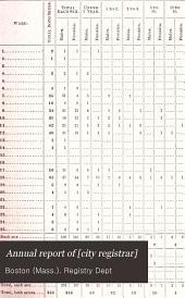 Annual Report of [city Registrar]