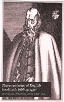 Three Centuries of English Booktrade Bibliography PDF