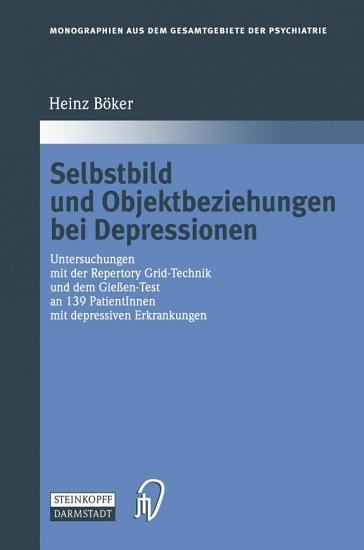Selbstbild und Objektbeziehungen bei Depressionen PDF