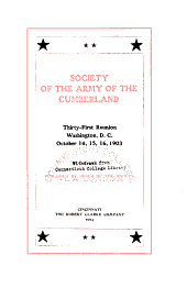 Fourth Reunion of the Society of the Army of the Cumberland: Cleveland, 1870, Volume 31