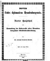 Codex diplomaticus brandenburgensis: Sammlung der urkunden, chroniken und sonstigen quellenschriften für die geschichte der mark Brandenburg und ihrer regenten, Band 35