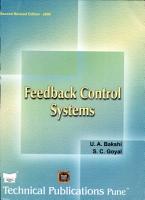 Feedback Control Systems PDF