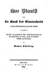 Der Pianist; oder, Die Kunst des Clavierspiels in ihrem Gesammtumfange theoretisch-praktisch dargestellt
