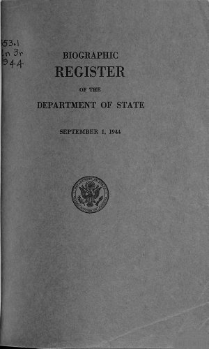 Biographic Register of the Department of State