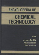 Encyclopedia of Chemical Technology: Index and Supplement