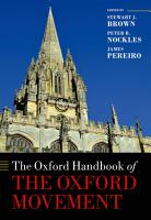 The Oxford Handbook of the Oxford Movement PDF