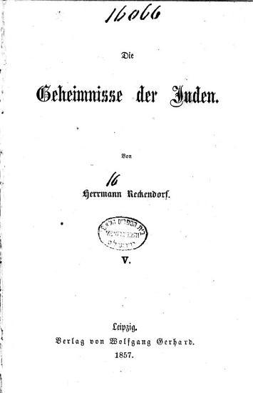 Die Geheimnisse der Juden PDF