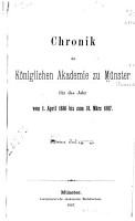 Chronik der K  niglichen akademie zu M  nster     PDF