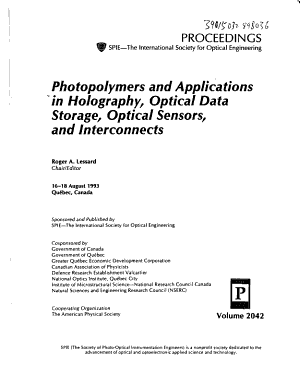 Photopolymers and Applications in Holography  Optical Data Storage  Optical Sensors  and Interconnects