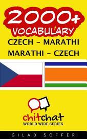 2000+ Czech - Marathi Marathi - Czech Vocabulary