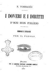 I doveri e i diritti d'ogni buon italiano memorie e speranze per il popolo N. Tommaseo