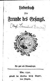 Liederbuch für Freunde des Gesangs