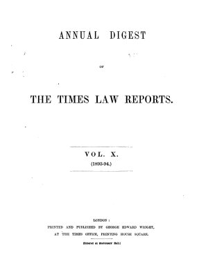 The Times Law Reports PDF