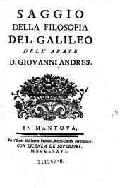 Saggio della filosofia del Galileo