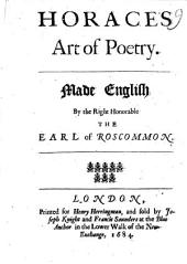 Horace's Art of Poetry