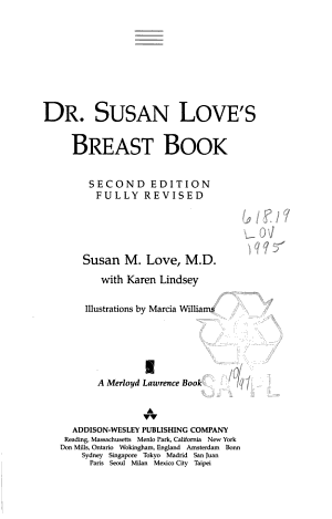 Dr  Susan Love s Breast Book  Second Edition  Special Edition For Cgss PDF