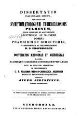 Symptomatologia tuberculoseos pulmonum