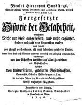 N. H. G.'s ... fortgesetzte Historie der Gelahrheit, etc