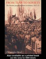 From Tsar To Soviets PDF