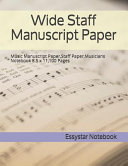 Wide Staff Manuscript Paper Book
