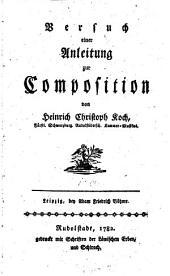 Versuch einer Anleitung zur Composition: Band 1