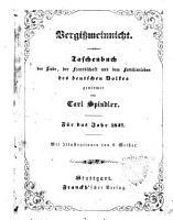 Vergissmeinnicht f  r das Jahr 1847 PDF