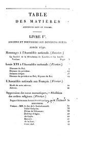 Choix de rapports, opinions et discours prononcés à la Tribune Nationale depuis 1789 jusqu'à ce jour: Année 1790, Volume2
