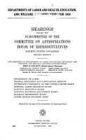 Departments of Labor and Health  Education and Welfare Appropriations for 1959 PDF