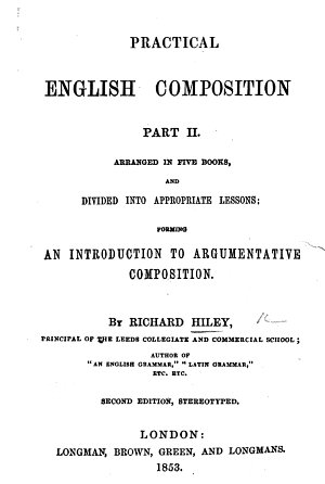 Practical English composition  Part II      Second edition