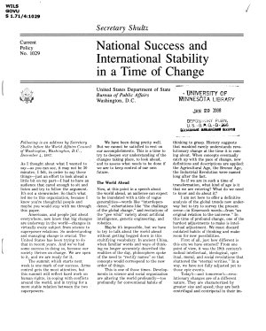 National success and international stability in a time of change PDF