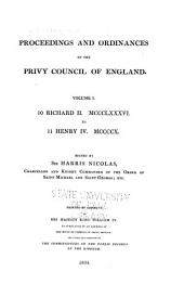 Proceedings and Ordinances of the Privy Council of England ...