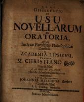 Dissertatio De Usu Novellarum In Oratoria