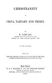 From the discovery of the Cape of Good Hope to the establishment of the Mantchoo-Tartar dynasty in China