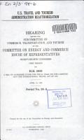 U S  Travel and Tourism Administration Reauthorization PDF