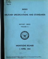 Index of Military Specifications and Standards PDF