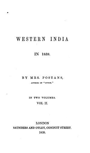 Western India in 1838