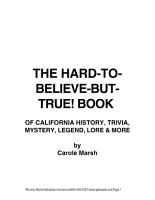 The Hard To Believe But True  Book of California History  Mystery  Trivia  Legend  Lore  Humor and More PDF