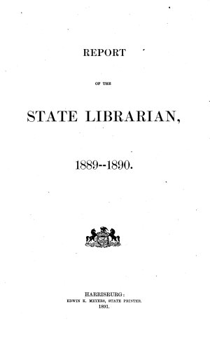 Report of State Librarian