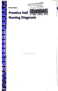 Prentice Hall Nursing Diagnosis Handbook with NIC Interventions and NOC Outcomes