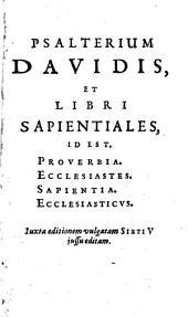 Psalterivm Davidis, ad, exemplar Vaticanum anni 1592